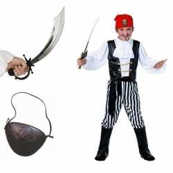 Compleet piraten kostuum maat l kids