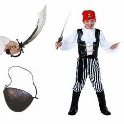 Compleet piraten kostuum maat m kids