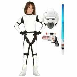 Compleet space trooper kostuum maat 122 134 kinderen