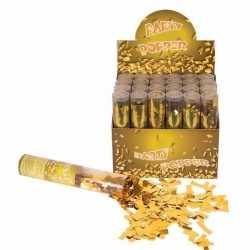 Confetti kanon metallic goud 20