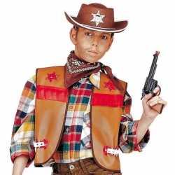Cowboy hesje bruin kinderen
