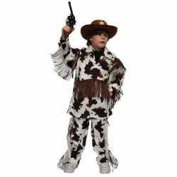 Cowboy kostuum koeienprint kinderen