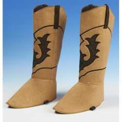 Cowboy schoenhoezen lichtbruin