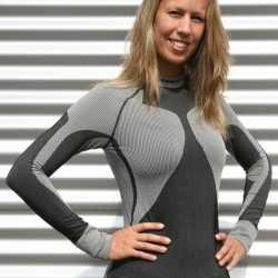 Craft thermo shirt zwart grijs dames