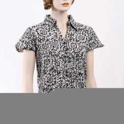 Dames blouse korte mouwen