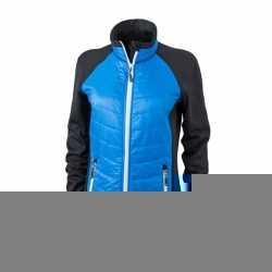 Dames hybride jas zwart blauw wit