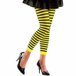 Dames legging geel zwart