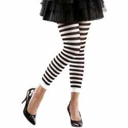 Dames legging wit zwart