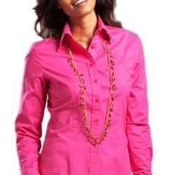 Dames overhemd lange mouwen