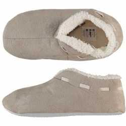 Dames spaanse sloffen/pantoffels beige