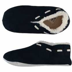 Dames spaanse sloffen/pantoffels navy