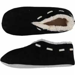 Dames spaanse sloffen/pantoffels zwart