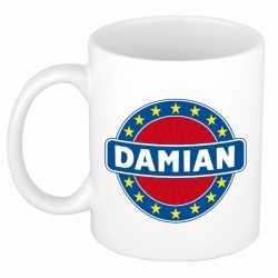 Damian naam koffie mok / beker 300 ml
