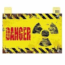 Danger deurbord geel