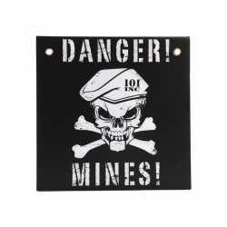 Danger mines muurplaat