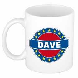Dave naam koffie mok / beker 300 ml