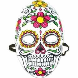 Day of the dead sugarskull halloween gezichtsmasker dames