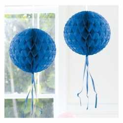 Decoratie bol blauw 30