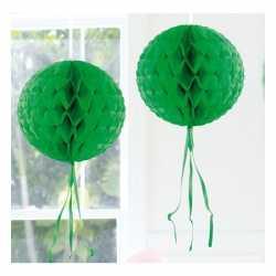 Decoratie bol donker groen 30
