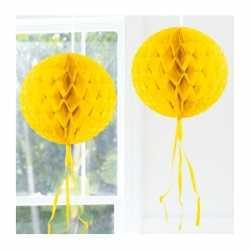Decoratie bol geel 30