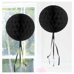 Decoratie bol zwart 30