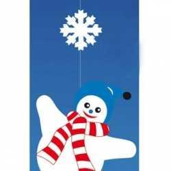 Decoratie hanger sneeuwpop
