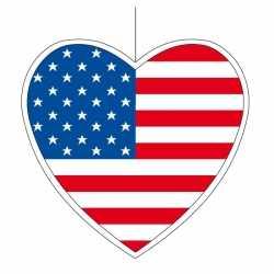 Decoratie hart Amerika 30