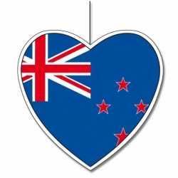 Decoratie hart Nieuw Zeeland 30