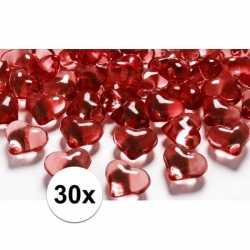 Decoratie hartjes diamantjes rood