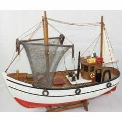 Decoratie houten model kotter/zeilboot 39