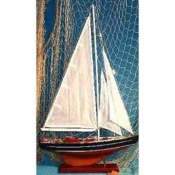 Decoratie houten model zeilschip 65