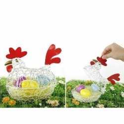 Decoratie kip/eierschaal pasen 25
