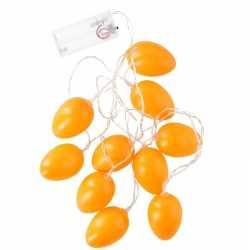 Decoratie led verlichting oranje paaseieren 192