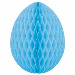 Decoratie paasei lichtblauw 10