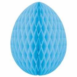 Decoratie paasei lichtblauw 20