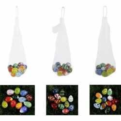 Decoratie paaseieren van glas 2 12 stuks