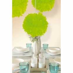 Decoratie pompom neon groen