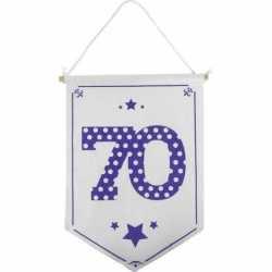Decoratie vlaggetje/vaantje 70 jaar