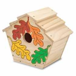 Decoratie vogelhuisje verf