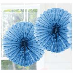 Decoratie waaier licht blauw 45