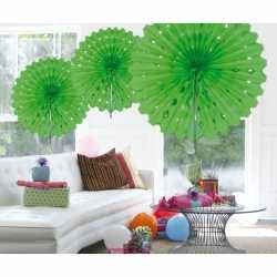 Decoratie waaier lime groen 45