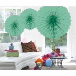 Decoratie waaier mint groen 45