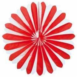 Decoratie waaier rood/wit 35