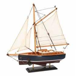 Decoratie zeilboot model jacht donkerblauw 23