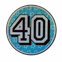 Decoratiebord 40 jaar holografisch