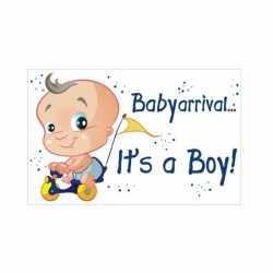 Decoratiebord geboorte jongen 35 bij 55