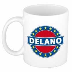 Delano naam koffie mok / beker 300 ml