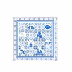 Delftsblauwe zakdoek