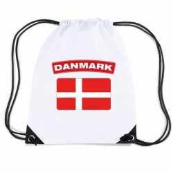 Denemarken nylon rugzak wit deense vlag