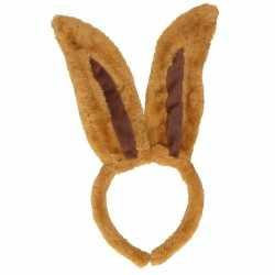 Diadeem konijn bruin